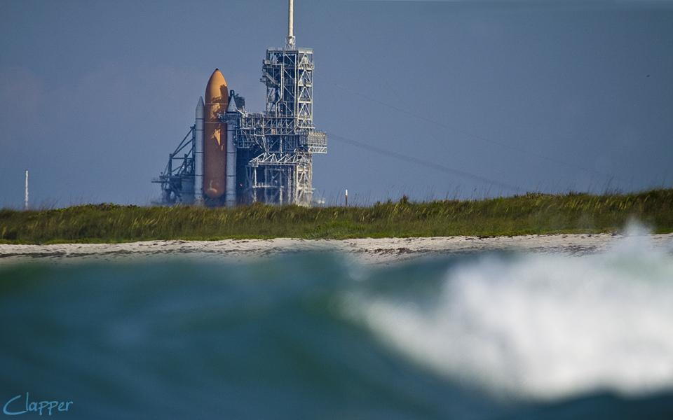Space Shuttle Atlantis. Docked for it's last flight June 2010.