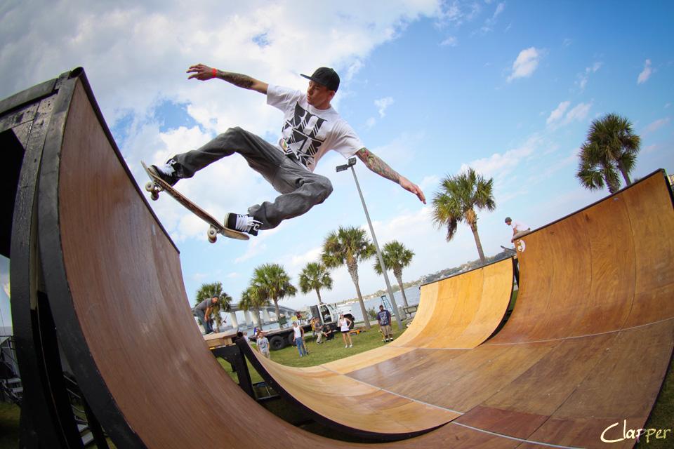 Skateboarding At The Daytona Winter Music Fest