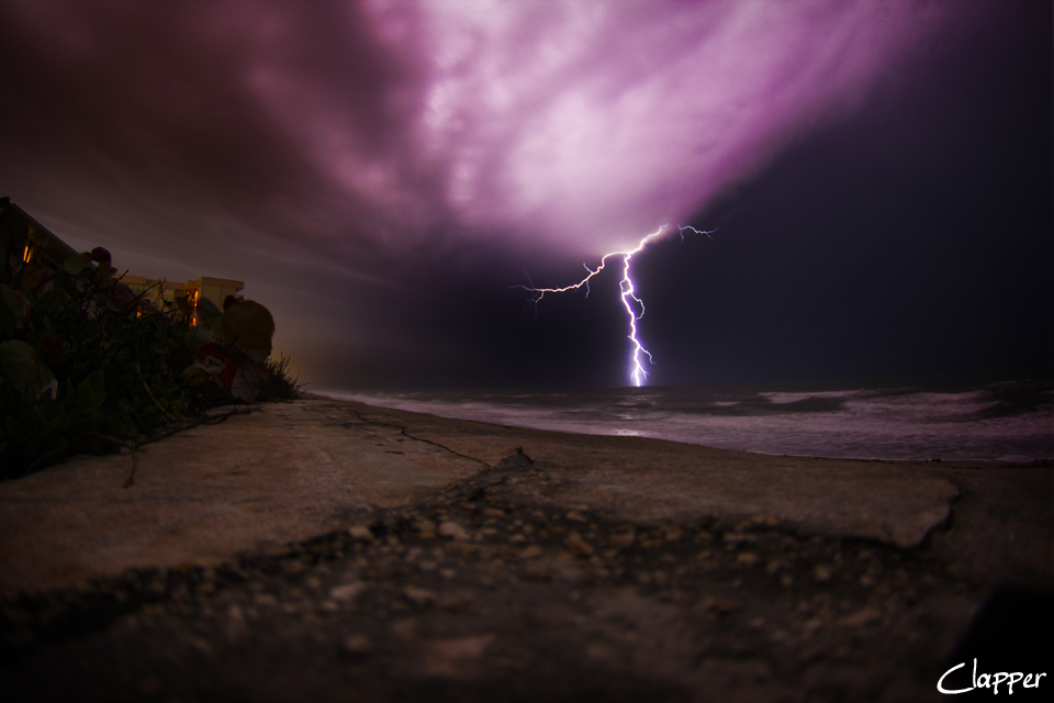 Satellite Beach Lightning Show. April 2013.