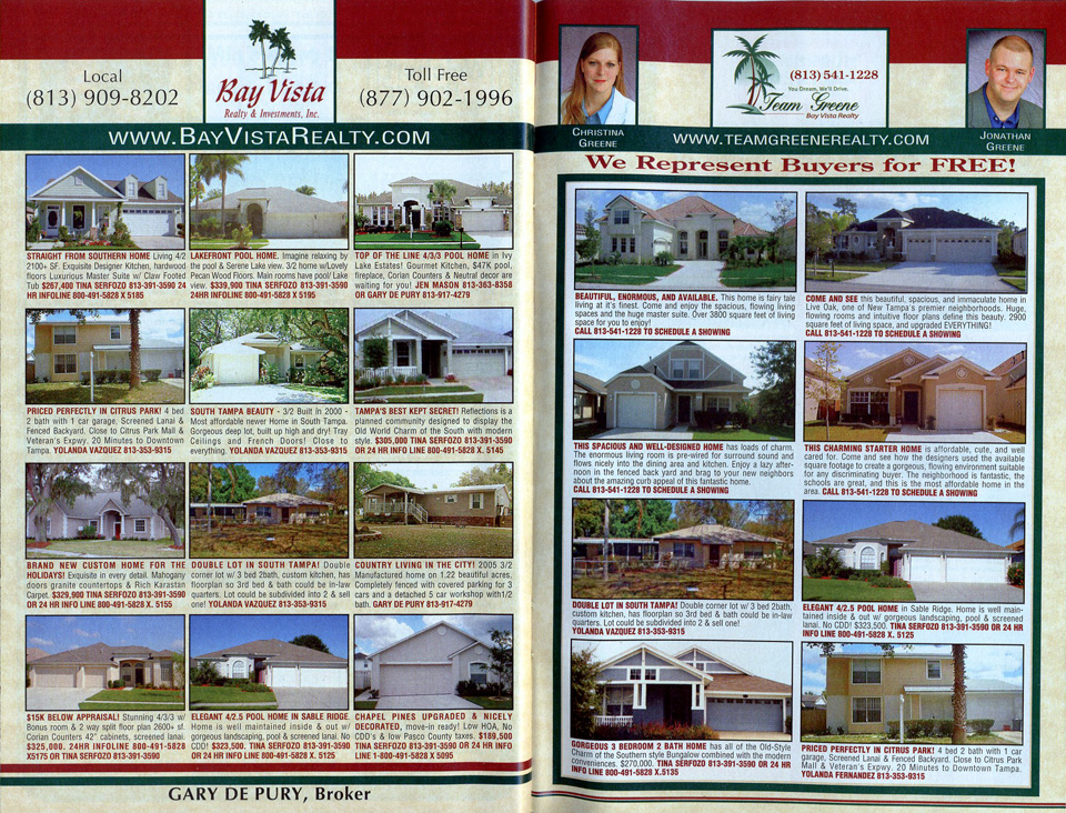 Bay Vista Spread Listings