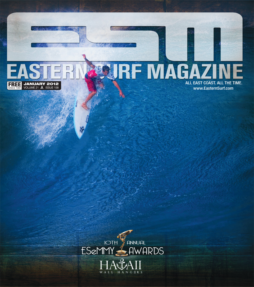 Damien Hobgood Surfing Hawaii. ESM Cover January 2012.