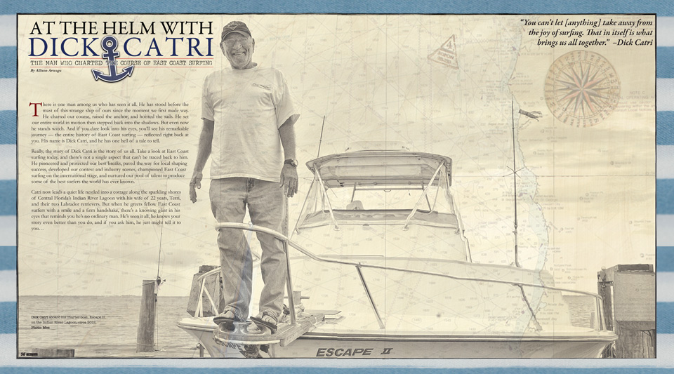 ESM Feature on Hall of fame east coast surfer and pioneer Dick Catri