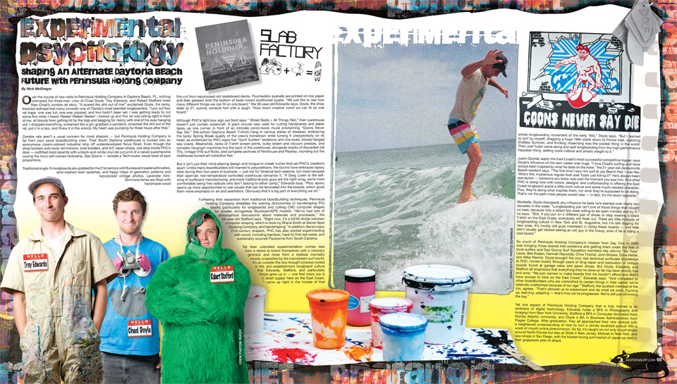 ESM Feature on Surfboard shapers