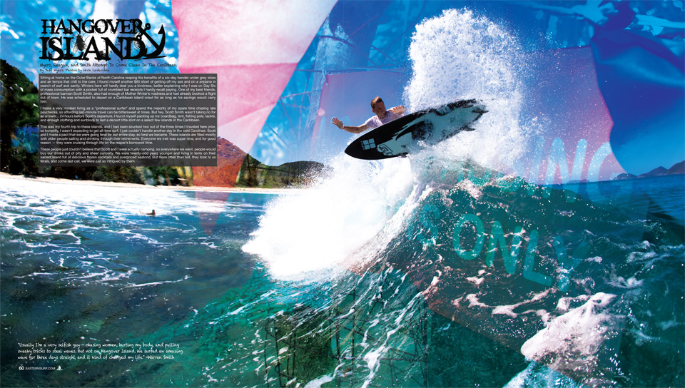 "ESM Feature on the British Virgin Islands and Caribbean. ""Hang Over Island"""