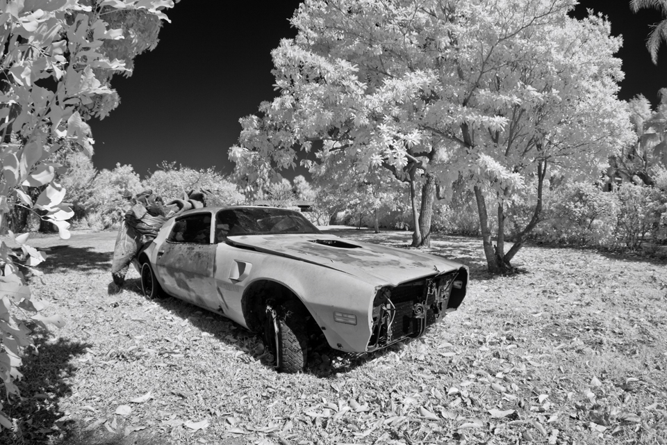 Infrared Old Car