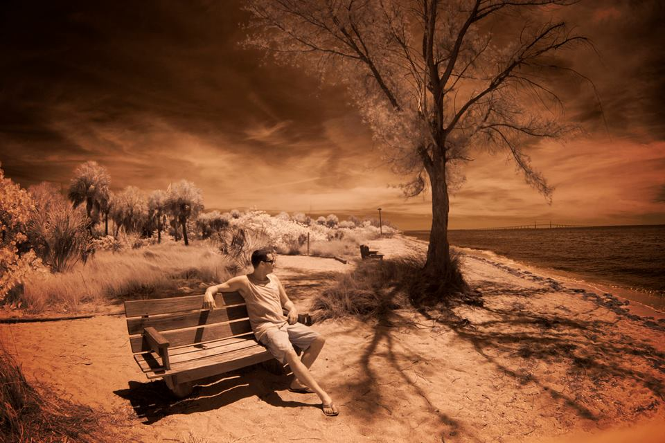 Ryan Clapper Enjoying A Dreamy Day In Ft. Desoto. Photo: Kerry