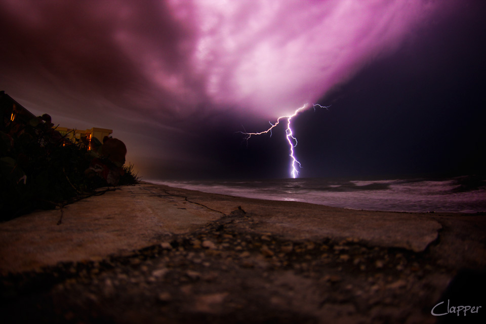 Satellite Beach Lightning Show April 2013